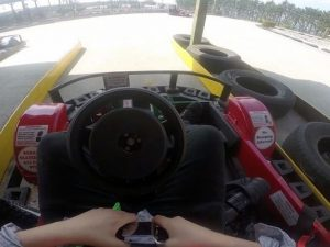 inside of a go kart cockpit